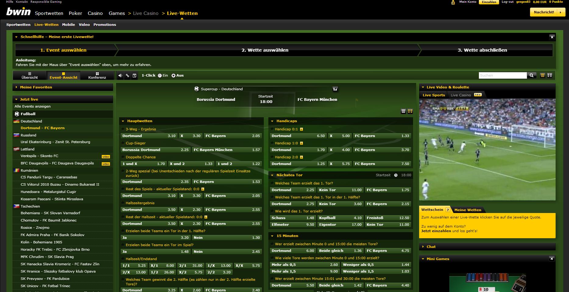 Live-Spiel com